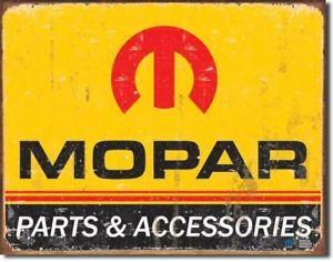 Vintage Retro Sign Mopar Logo 1964 1971 Car Parts