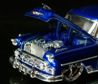 1953 Chevy Bel Air Dub City Old Skool 1 24 Candy Purple