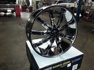 """Dcenti DW29 30"""" Wheels Rims Tires Fitchevy Cadillac GMC Ford Old School Cars"""