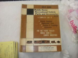 Vintage 1971 72 Mobile Home and Recreation Vehicle Parts Accessories Catalog