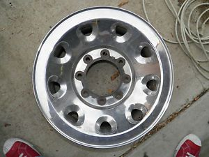 2000 2005 Ford F250 Excursion Stock Rims Chrome on Steel 16 x 7 w Center Caps