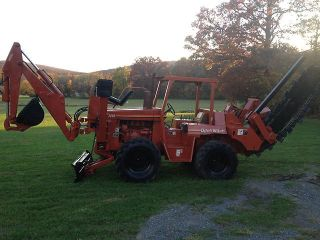Ditch Witch 7610 Trencher Plow Backhoe Duetz Diesel Engine Hoe 6 Way Dozer Blade