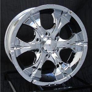17 inch Chrome Wheels Rims Chevy GMC Sierra 6 Lug 1500 Truck Avalanche Helo Maxx