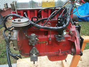 Volvo Penta Complete Running Engine Motor AQ130D AQ 130 4 Cylinder Dual Carb