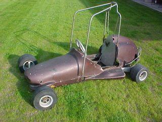 Vintage Go Kart 1 4 Quarter Midget Race Car Rat Hot Rod 1932 Ford Minibike 1960