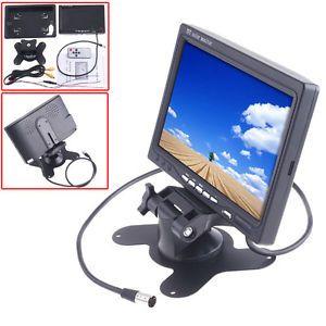 "7"" TFT LCD Color Car Rear View Headrest Monitor DVD VCR Camera Remote Control"