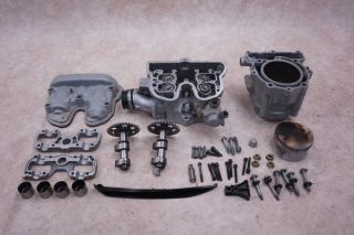 2002 02 Bombardier DS650 DS 650 Engine Cylinder Head Jug Piston Cams Caps