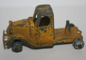 Vintage Antique Tootsie Toy Tootsietoy Yellow Mack Truck Cab Rig Parts Toy