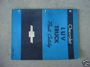 GM 72 73 Chevrolet Luv Truck Parts Catalog Chevy