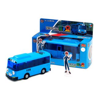 New The Little Bus Tayo Diecast Metal Blue Toy Car Korean Animation Full Back On