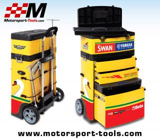 Beta Tools C41H Swan Yamaha Racing Tommy Hill Mobile Tool Box Chest Trolley BSB