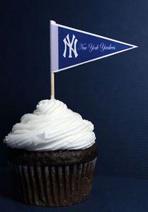 New York Yankees MLB Cupcake Picks Cake Topper