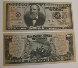 Rutherford B Hayes One Million Dollar Bill Prank Trick Money Fake Fun Cash
