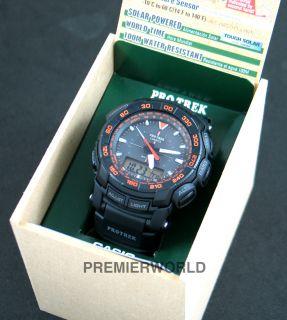 Casio PROTREK Tough Solar Triple Sensor 100M Watch PRG 550 1A4DR