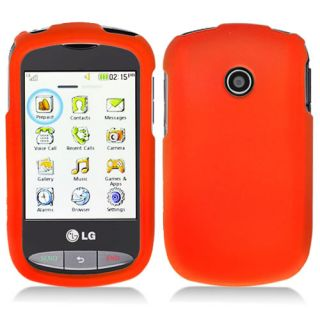 Orange Rubberized Hard Case Cover for Tracfone LG 800G Net10 Phone Accessory