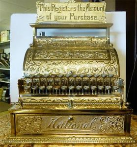 Antique 1892 National Cash Register Serial Number 48697