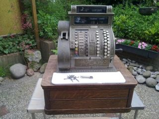Alte Antike Registrierkasse Kasse National Baujahr 1915 Model 442 Cash Register