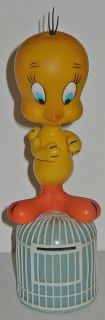 Vintage Looney Tune Tweety Bird Bank Bird Cage Figure Dakin