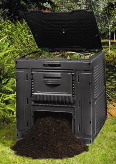 New 124 Gallon Recycled Plastic Composting Compost Bin Composter Free Shipping