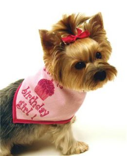 Birthday Girl Dog Scarf Bandana Collar Pink Made USA