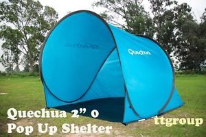 Quechua Waterproof Instant Pop Up Camping Tent Shelter 2 Seconds 0 1 to 2 Man