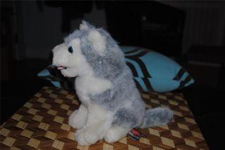 "Melissa Doug Siberian Husky Wolf Plush Stuffed Animal Puppy Dog 8"" Cute"