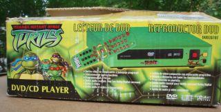 RARE Teenage Mutant Ninja Turtles DVD CD Player TMNT New in Box Turtle Power