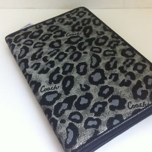 Coach Ocelot Black eReader Tablet iPad Mini Kindle Nook Case Sleeve Cover