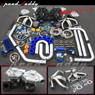 Chevy Small Block Twin Turbo Charger Kit SBC T3 T4 T04E