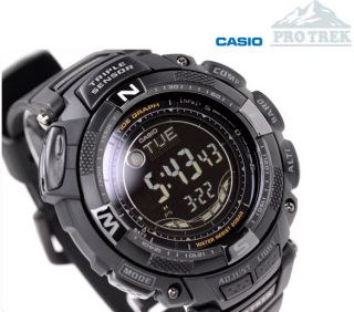 Genuine Casio PROTREK Tough Solar Triple Sensor Men's Watch PRG 130Y Black Japan