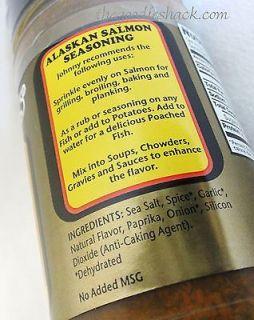Johnny's Alaskan Salmon Fish Seasoning Rub w Sea Salt Baking Grilling Chowder