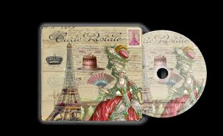 French Vintage Ephemera Art Decoupage Cards Toppers Marie Antoinette Collection