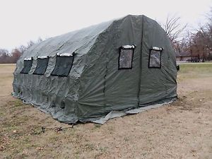 Military Tent Quick E 16x24 Army Surplus Pop Up Design Hunting Camping