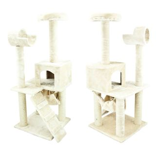 "Kitten Scratcher House Furniture Deluxe 50"" Cat Tower Tree w Condo Hammock Toy"