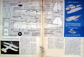 Original 1948 How to Build Great Lakes Trainer Control Line Model Airplane Plans
