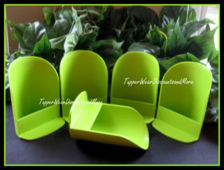 Tupperware New 5 Round Sugar Flour Canister Rocker Scoop Scoops Lime Green