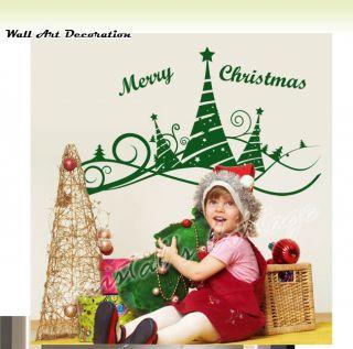 Christmas Tree 5 Ribbon Shopwindow Show Window Wall Art Decoration Sticker Decal