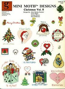 "Mini Motif Designs ""Christmas Vol 8"" Holiday Cross Stitch Pattern Leaflet Chart"