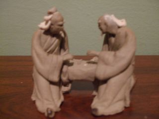 Asian Pottery Chinese Clay Mudman Figurines Mini Statues