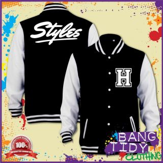 Harry Styles One Direction 1D Inspired Varsity Bassball Kids Varsity Jacket