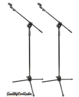 Pack of 2 New Pyle PMKS3 Tripod Microphone Stands w Extending Boom Mic Clips