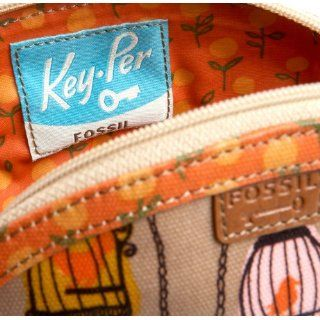 Fossil Key per Bird Cage Shopper Tote Cosmetic Toiletry