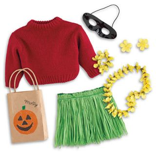 American Girl Molly's Hula Costume Dolls Halloween Trick or Treat Retired New