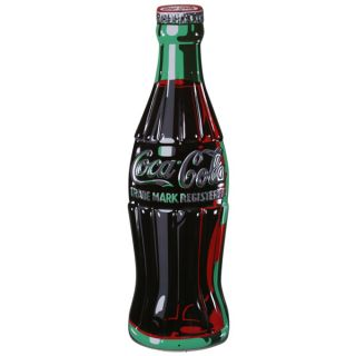 Coca Cola Bottle Embossed Tin Sign