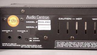 Centron Rack Mount Stereo Audio Power Amplifier Guar