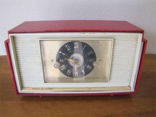 Vintage General Electric Am Clock Tube Radio Model 941