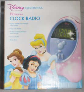Disney Princess Digital Alarm Clock Radio DCR5000 P