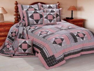 Victorian Heart Homestead 5pcs Queen Quilt Bed Set