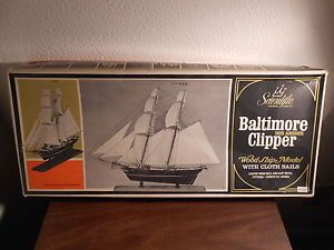 Scientific Wood SHIP Model Kit Dos Amigos Baltimore Clipper Complete in Box