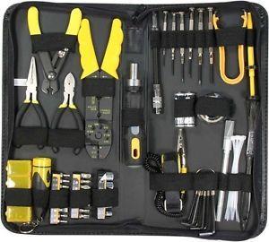 58 Piece Professional PC Computer Electrician Handyman DIY Repair Tool Kit Case